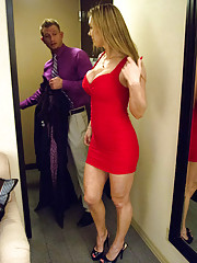 Gorgeous babe Tanya Tate has hot sex with her client in his hotel room.