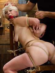 Our pretty little heroines story starts with her slutty mouth gagged and ends with