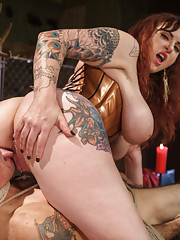Mz. Berlin breaks in newcomer Jake Jammer. Cannonball suspension whipping flogging