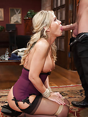 When Hot Blonde MILF enters domestic slave training she learns to service hard dick
