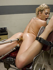 Over an hour of pounding by custom machines wno off button. Ass pussy fucked nipples