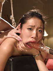 18 year old co-ed gangbanged and Dpd by 3 sadistic lesbians for her first time!