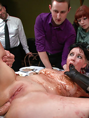 A Bawdy Banquet is served on this filthy whores delectable flesh!