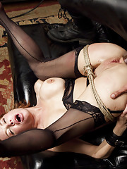 Nympho Anal MILF trained to suck cock with painful nipple clamps service domistic