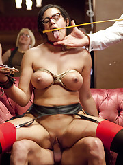 Porn Star Gaia Fucked in the Ass and begs to come while masochistic slut Penny Barber
