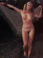 Two seventies girls getting covered with a huge load of cum