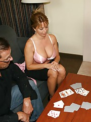 When Mike and Bill coax their sexy neighbor Amber Bach into a game of strip poker