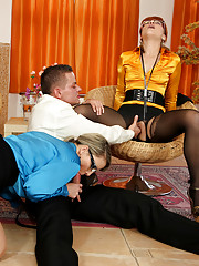Lucky chap drilling cuties
