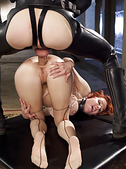 Gorgeous nympho anal MILF Veronica Avluv face fucked brutal reverse cowgirl bent