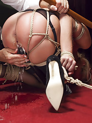 Tiny pussy bound and banged after loosing poker game tight bondage multiple squirting