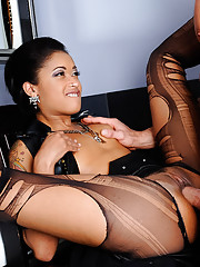 Skin Diamond has been eyeing the really uptight guy at the bar. So when the guy039s