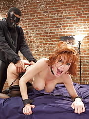 Domestic Anal MILF slave training hardcore ass fucking and pussy squirting predicament