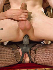 Goddess Mona Wales uses sounds to teases and stroke slaves cock from the inside out