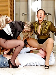 Naughty group sex at home