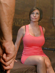 Horny MILF in bondage and rough sex!