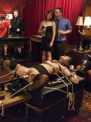 Two submissive sluts sharing one hard cock. Veruca James and Angelina Chung in kinky