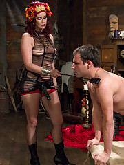 Maitresse Madeline gives an EXTREME and BRUTAL sounding teasing and fucking her slaves