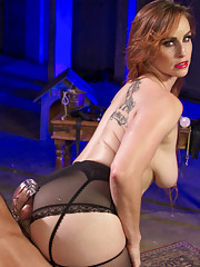 Slave is sold at art auction and used like an animal put in chastity and has his