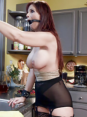 Big tits big round ass the perfect domestic MILF gets slave training to improve her