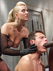 Mistress Cherry Torn cuckolds her young toy with a gorgeous big black cock!