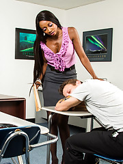 Diamond Jackson consoles her student after hes been dumped by his girlfriend. Diamond