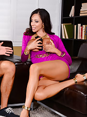 Ariella Ferrera just got home from a horrible date. She finds her sons friend hanging