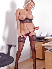 Office babe Dannii Harwood always feels the best way to get through to her boss is
