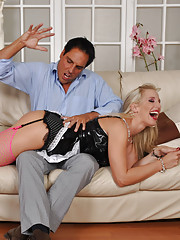 SLutty house maid Becs gets fucked hard by her boss for not cleaning well enough.