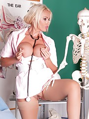 Nurse Lucy Zara is getting very wet in the ward who will be the lucky patient to