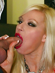 Hot busty blonde Michelle Thorne is delighted to welcome two big hard cocks penetrating