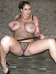 I bet you love to see girls dressed up in fishnet outfits trust Eva Notty in Sexy