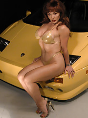 Hey guys. If youre a fan of fast sexy cars like I am youll Sexy Vanessa in Lambo