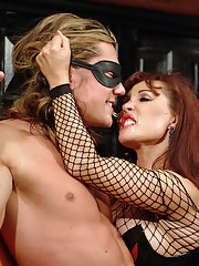 Im here with my friends Ava Devine and Jean Van Jean. You see Sexy Vanessa Playing