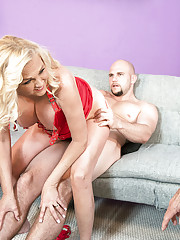 Saras First Time...while Her Cuckold Hubby Watches