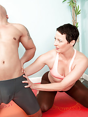 The Yoga Instructor Isnt Wearing Panties!