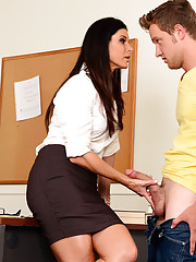 Dean India Summer calls in a student at her University after he was found fucking