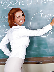 Preston is substituting a class for Veronica Avluv. The problem is that Preston is