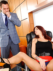 Monique Alexander is being naughty in the office. She039s playing with her pretty