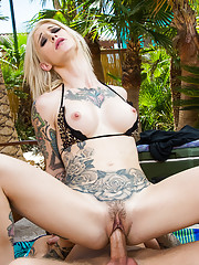 Kleio Valentien arrives to Richie039s party a little early....and that was just her