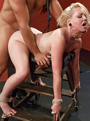 Brand New 20 year old girl in rough bondage sex.