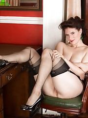 Brianna loves to exhibit her wanton side especially in garters and sheer black ff