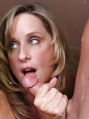 Teen babe caught her step mom sucking her bf cock