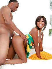 Giant ebony cock for beautiful Karma May and her hungry cunt
