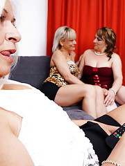 Three naughty housewife share their lesbian feelings