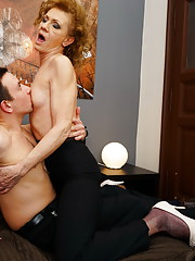 Horny housewife playing with her younger friend