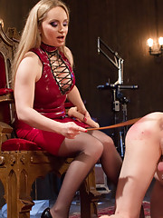 Artemis Faux has been a very bad boy and Aiden Starr corrects him with one grueling