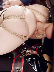 Anal Slave Casey Calvert and Submissive Slut Cadence Lux fucked hard in Rough Sex