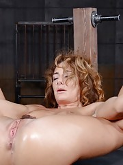 Savannah Fox is the stuff dreams are made of. Toned curly red hair. perky natural