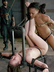 Public ebony porn featuring BDSM and foot fetishes with Bonnie Day