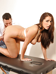 Naughty hot nurse Paige Turnah gets a taste of her own medicine and a mouthful of